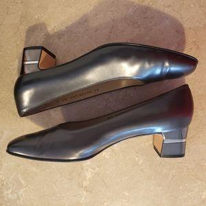 Salvatore Ferragamo Heels/Shoes Metallic Black